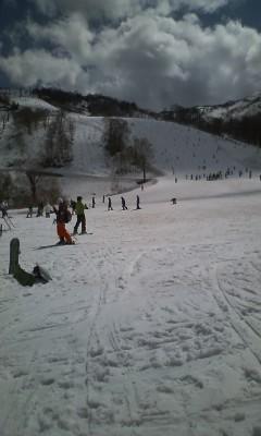 かぐらでスキー